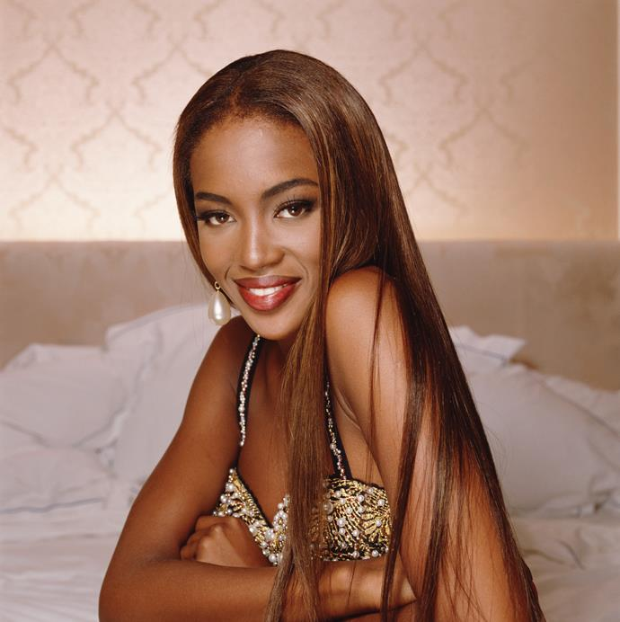 **1989 – Naomi Campbell** In 1989 Naomi Campbell was the first black model to appear on the cover of American Vogue.