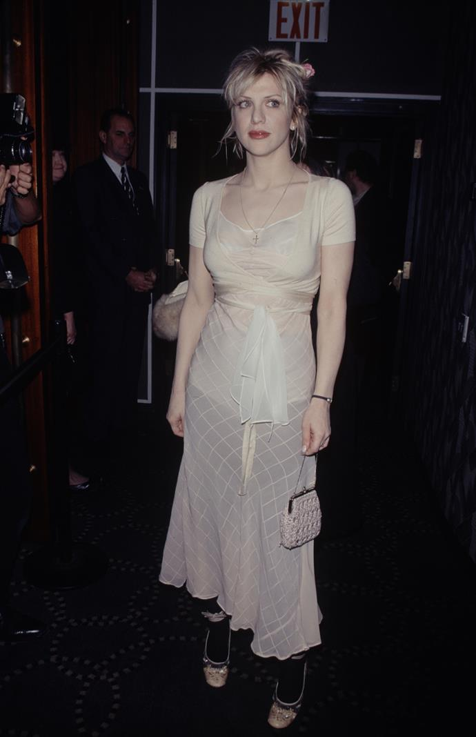 **1995 – Courtney Love** Punk icon and wife of Kurt Cobain, by the mid-nineties Courtney Love had quit her band Hole and started out on her own.