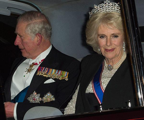 Prince Charles and Duchess Camilla were also in attendance.