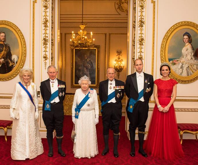The senior royals posed for this portrait at last year's event.