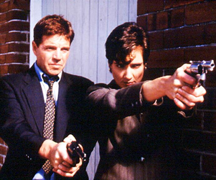 ***Water Rats* 1996: ** Sydney Harbour was the scenic backdrop for police procedural *Water Rats*. The relationship between detectives Frank (**Colin Friels**) and Rachel (**Catherine Clements**) attracted audiences in droves.