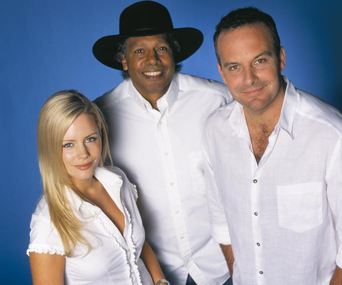 ***The Great Outdoors* 1993: ** Aussies loved to tune into *The Great Outdoors* for great holiday tips. The popular series was hosted by the likes of **Sophie Falkiner, Ernie Dingo** and **Andrew Daddo. **
