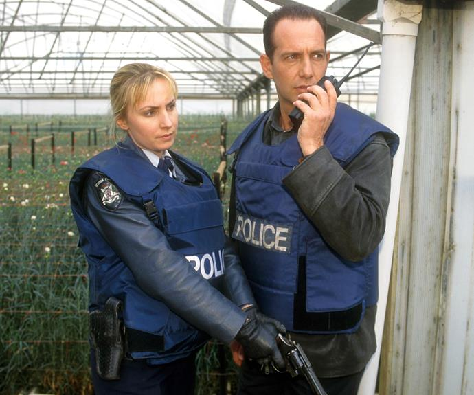 ***Blue Heelers *1993: ** The police officers in *Blue Heelers* became favourites with TV WEEK readers. The series blended crime cases with the relationships between the cops in the fictional town of Mount Thomas. PJ (**Martin Sacks**) and Maggie (**Lisa McCune**) became an iconic TV pairing. Her death was one of the series' most heartbreaking scenes.