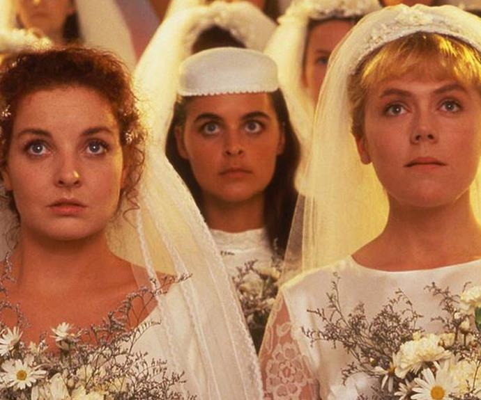 ***Brides of Christ* 1991: ** The successful miniseries was set in a Sydney convent school and centred on the relationships between the nuns and students. It starred **Josephine Byrnes** and **Lisa Hensley** and was **Naomi Watts'** first role.