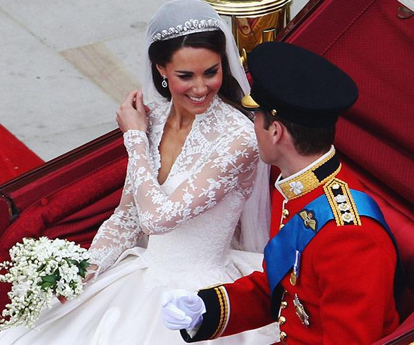 Kate's tiara was the perfect fairytale accessory for her wedding day in April, 2011. *(Image: Getty)*
