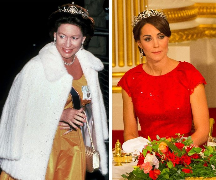 Princess Margaret, Countess of Snowdon often wore the tiara. *(Images: Getty)*