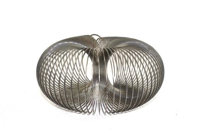 **Slinky** It sounds boring – just a metal spring that walks itself down the stairs – but that didn't stop us spending hours from watching them. And, if we're honest, stretching them out and messing around with them once the novelty of the stairs had worn off.