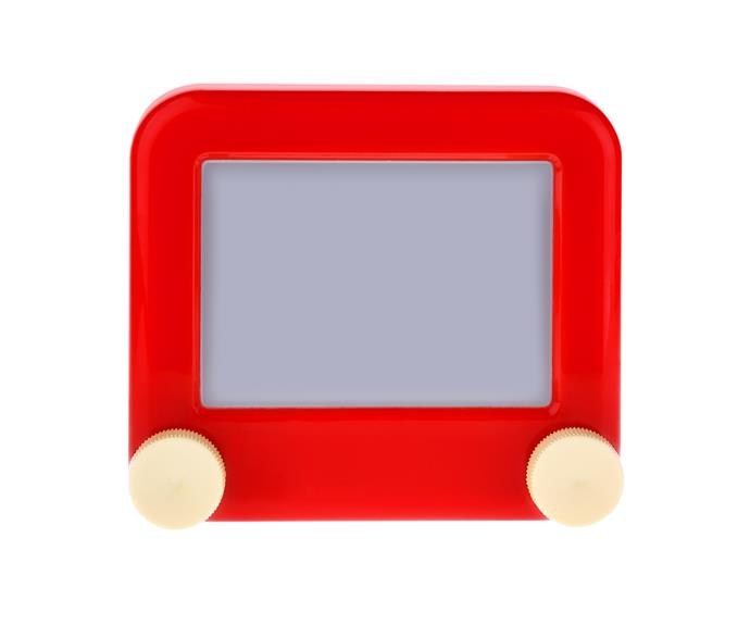 **Etch-a-Sketch** We're not sure why drawing on an Etch-a-Sketch was so much more fun than using a pen and paper…but it was! Perhaps it was to do with the big buttons, or the satisfaction of giving it a good shake to clear it. Whatever it was, it was the best-selling toy of 1960.