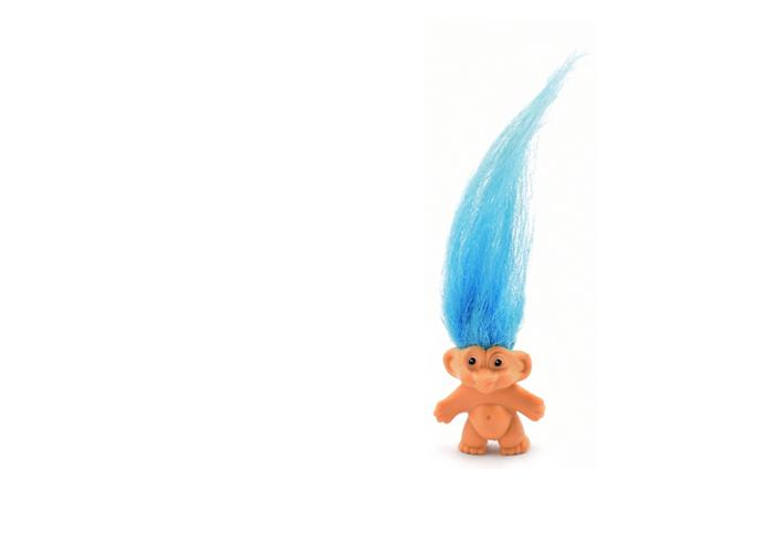 **Trolls** They're still around today, but Trolls reached the height of their success in 1961. These funny-faced creatures had a shock of bright hair that we loved to brush or plait.
