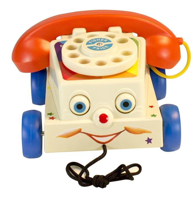 **Fisher Price Chatter Telephone** Fisher Price toys really have stood the test of time, and the Chatter Phone, with its wide eyes and red wheels is still available today.