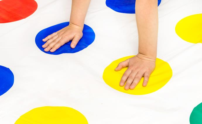 **Twister board game** A board game unlike any other, it was such fun to put our left hand on green and our right foot on blue – although it did lead to the odd bruise as we all collapsed on top of each other!