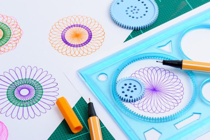 **Spirograph** It shouldn't have been as fun as it was, but something about spinning a pen round in a plastic cog to make spiral patterns was one of our favourite things to do in 1967.