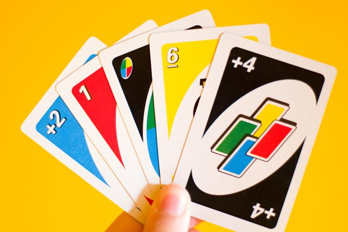 **Uno** Still a family-favourite today, Uno was a great hit in 1972 – and a good way to get your revenge on siblings by making them pick up four extra cards.