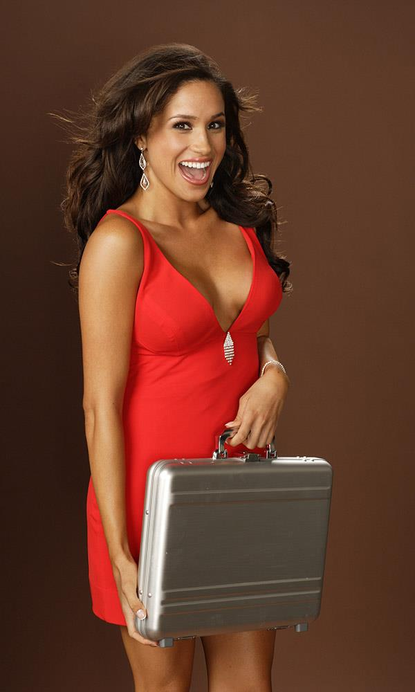 Meghan was a 'briefcase girl' on the hit gameshow.