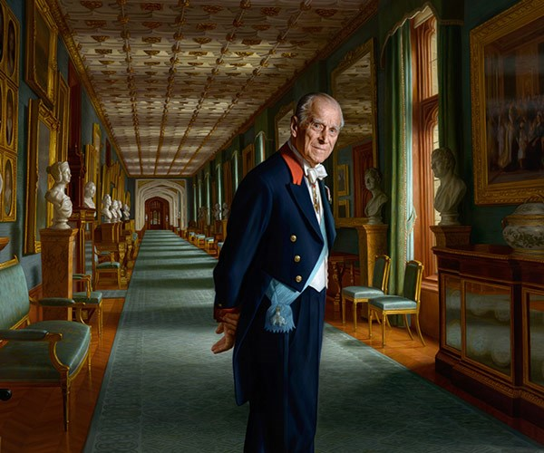 "Poised and powerful, Australian-born artist Ralph Heimans has perfectly captured Prince Philip in all his glory in this newly-released painting to mark his retirement. ""I feel very fortunate to have been given the opportunity to paint Prince Philip and hope the portrait does justice to his unique character,"" Heimans said."