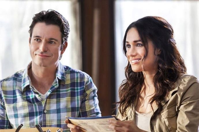 **When Sparks Fly** Meghan was a journalist who finds Fourth of July romance with a small-town heartthrob in a 2014 Hallmark movie titled When Sparks Fly. (Get it?!)