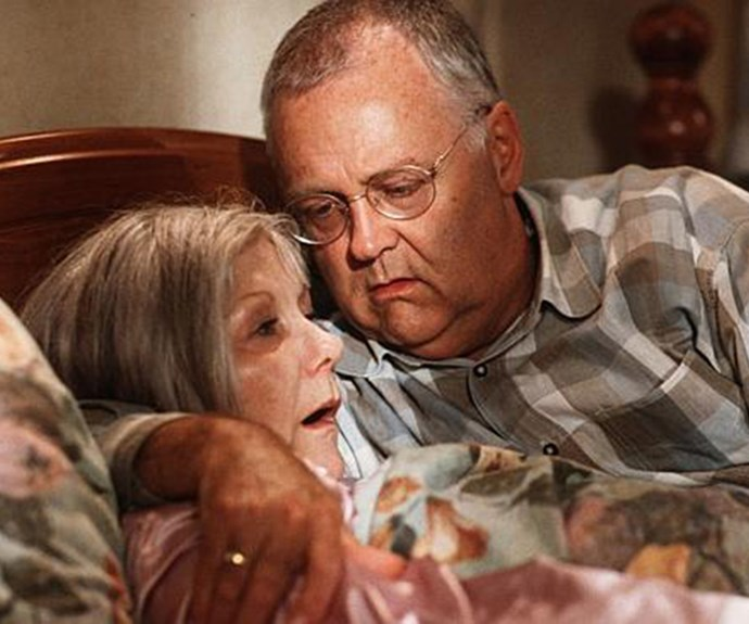 **Madge Bishop dies:** Long-time Ramsay Street resident Madge (**Anne Charleston**) died in 2001 after a battle with pancreatic cancer. The matriarch of the Bishop family died at home in her beloved husband Harold's (**Ian Smith**) arms. Madge made a brief return in 2014 when she appeared in one of Harold's dreams.