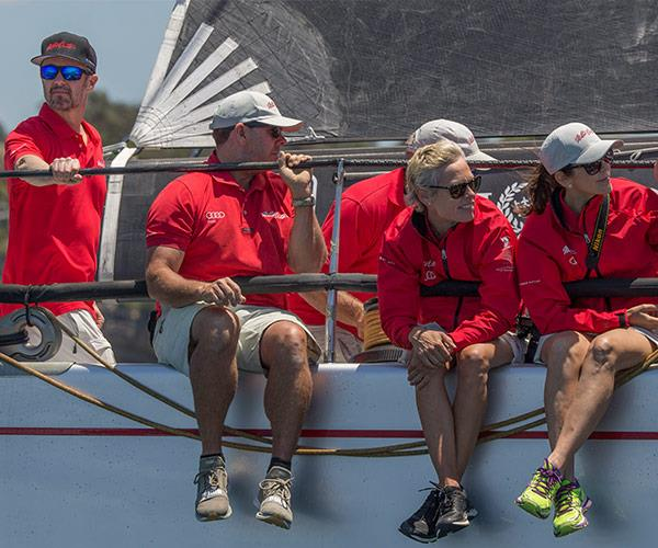 The athletic couple were participating in the CYCA SOLAS Big Boat Challenge.