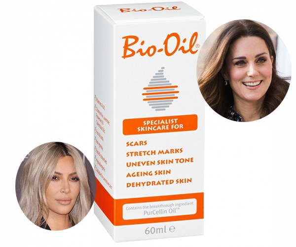 """You may think the Queen of reality television and the Duchess of Cambridge have very littler in common - and you're probably right. However, it is reported that both women are avid users of pharmacy-favourite [Bio-Oil](https://www.priceline.com.au/bio-oil-bio-oil-60-ml