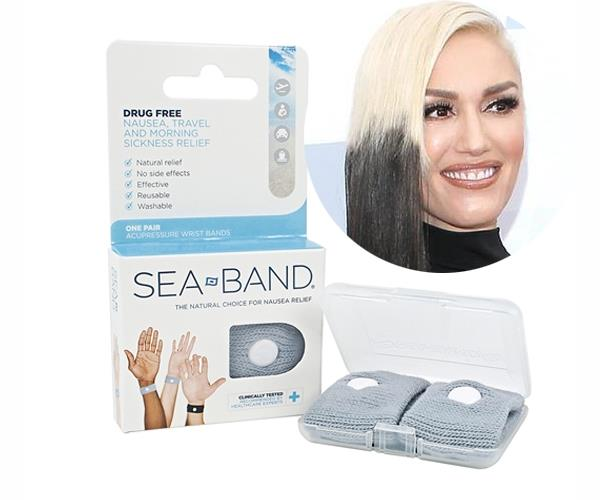 "Superstar singer Gwen Stefani was spotted wearing [Sea Band wristbands](http://www.ihealthsphere.com.au/sea-band-nausea-remedy-adult-p/80700.htm|target=""_blank""