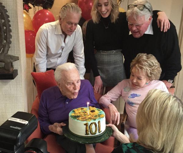 Catherine Zeta-Jones wishes father-in-law Kirk Douglas a happy 101st birthday