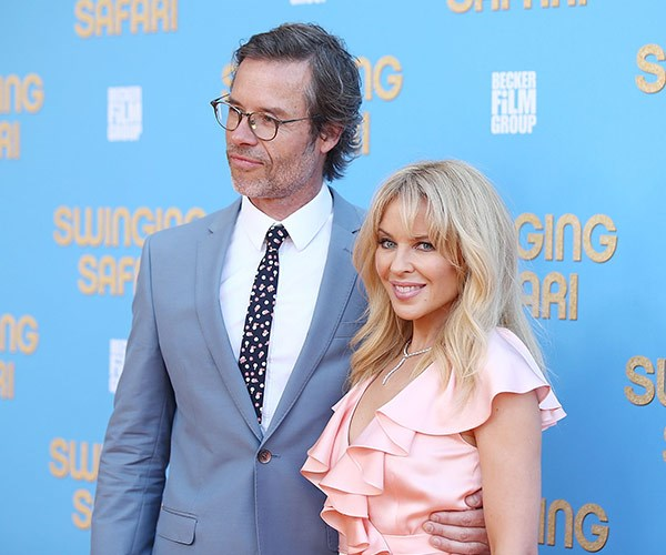 Kylie and Guy at the world premiere of their film, Swinging Safari, in December 2017.