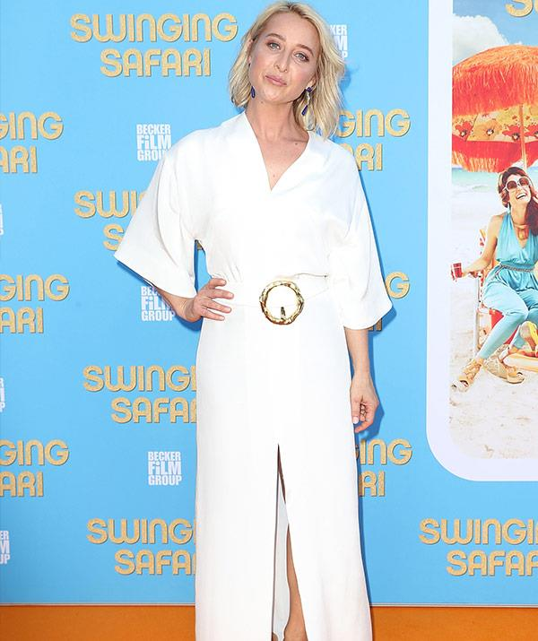Asher Keddie, who also stars in the flick, is a total red carpet slayer in this white jumpsuit.