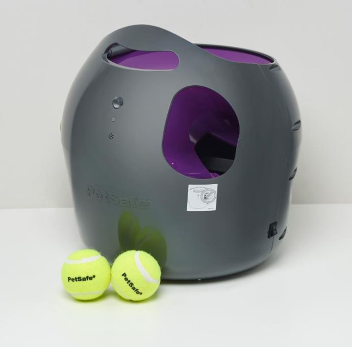 **Pet-safe automatic ball launcher $199** Set the distance, angle and you're GO for launch.