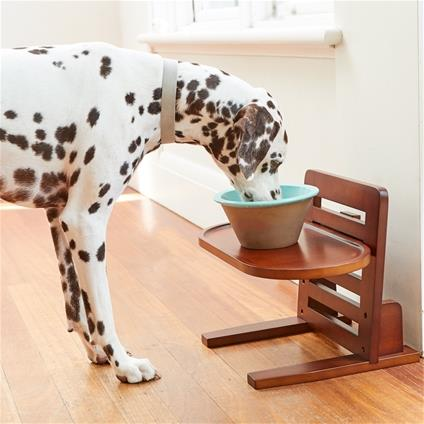 This Doggie Dining Table is so cute! It has 5 height settings to suit dogs of all sizes