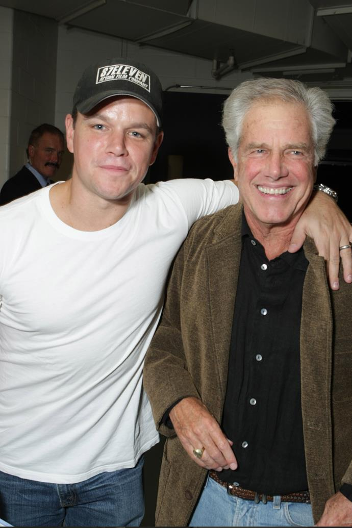 Earlier days... Matt Damon with his dad, Kent, by his side.