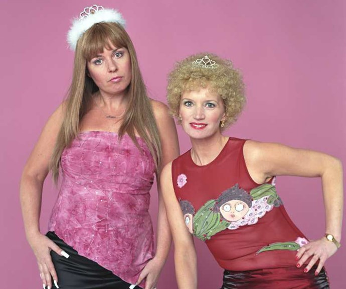 ***Kath & Kim *- 2002** In 2002, TV fans were crying out for something different. Something noice. Something unusual. Enter *Kath & Kim*. Mum Kath (**Jane Turner**) and daughter Kim (**Gina Riley**) were the suburban superstars who we welcomed into our lives for four hilarious seasons. Along the way they won three Logies and became comedy greats.