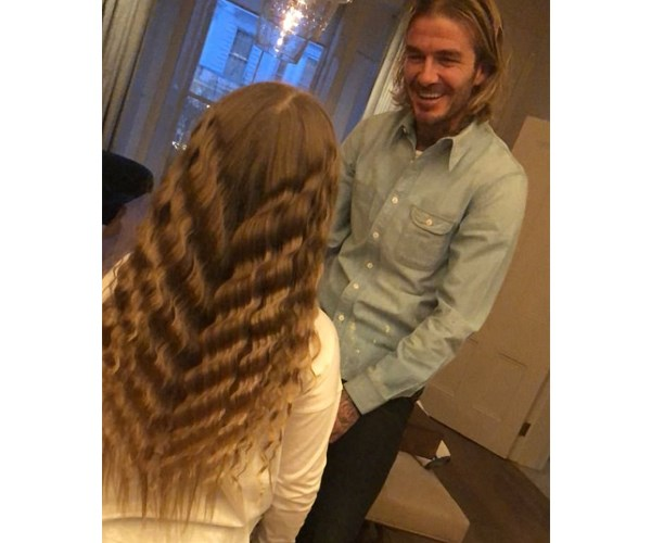 "Sure, soccer superstar [David Beckham](https://www.nowtolove.com.au/tags/david-beckham|target=""_blank"") beaming at his darling daughter Harper is adorable. But it's Harper's flowing mermaid hair that has us mesmerised! The six-year-old is usually snapped by her mum and dad wearing her Rapunzel-length tresses in two tight braids. But when [Victoria](https://www.nowtolove.com.au/tags/victoria-beckham
