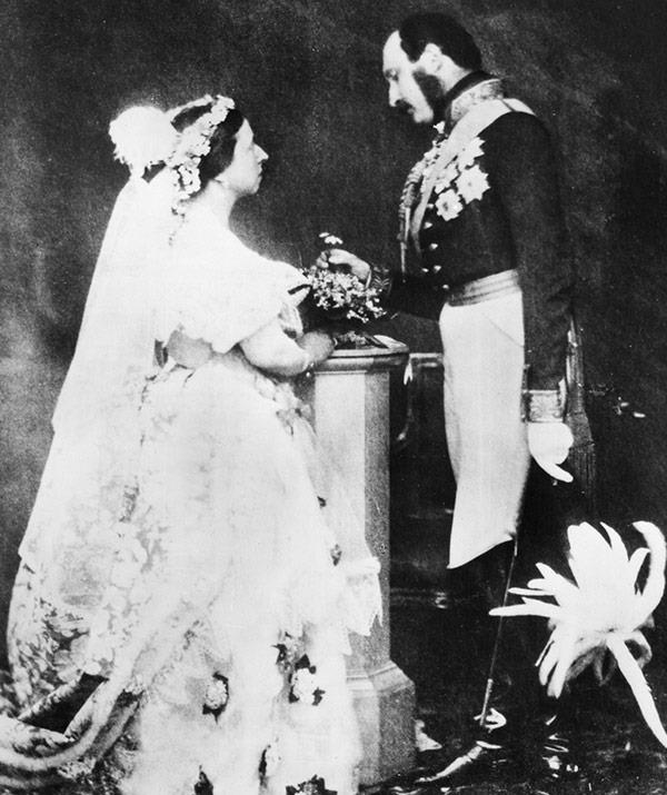 It's a nice day for a white wedding: Queen Victoria started this tradition at her wedding in 1840.