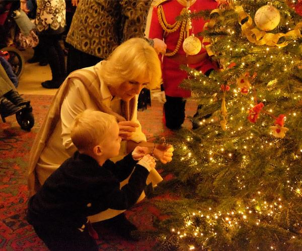 The Duchess of Cornwall was enchanted by her mini guests.