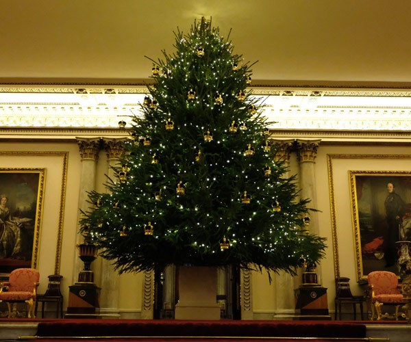 "The Palace announced, ""Christmas has arrived at Buckingham Palace!"""