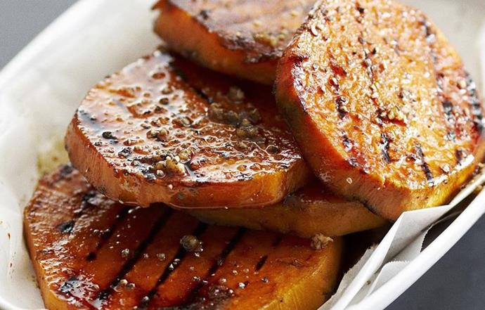 """[**Barbecued kumara**](http://www.foodtolove.com.au/recipes/barbecued-kumara-slices-24296