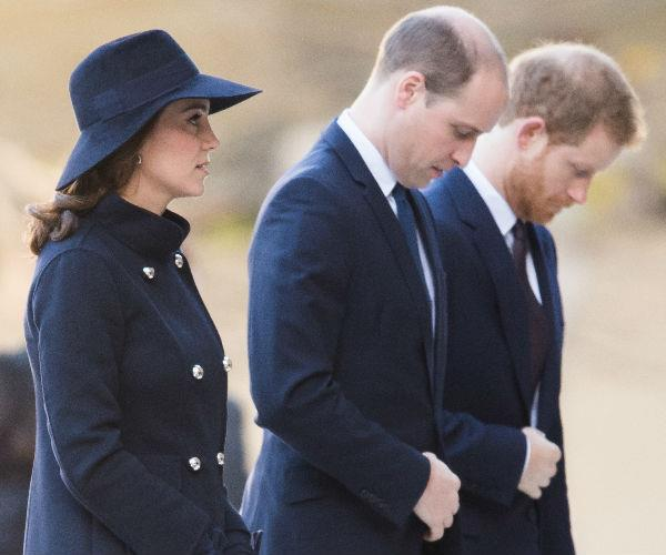The royal trio paid their respects as they attended a memorial service for all those who died in the Grenfell Tower fire.