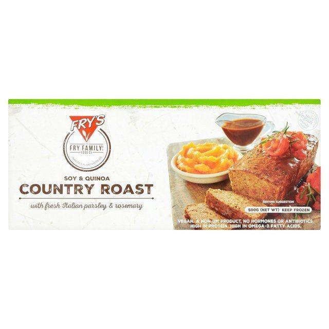 """[**Frys Soy and Quinoa Country Roast**](https://crueltyfreeshop.com.au/collections/vegan-food/products/fryssoyandquinoacountryroast500gcold