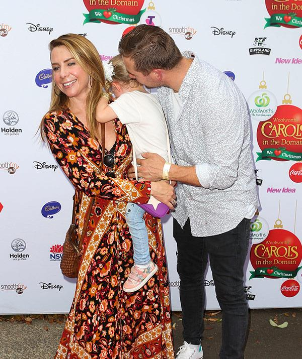 Kate Ritchie and Stuart Webb enjoyed a family night out with their three-year-old daughter Mae on Sunday evening.