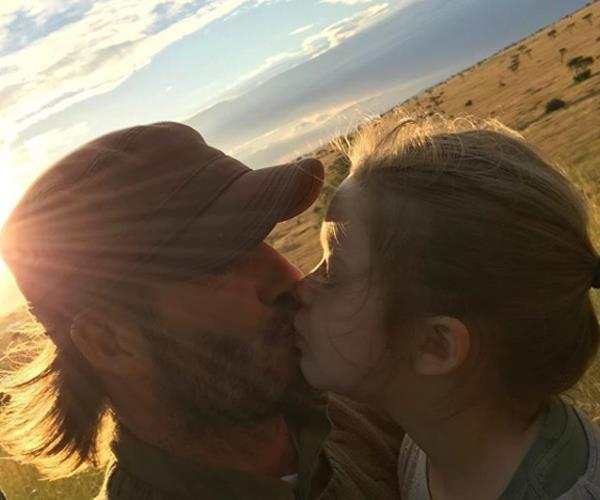 """I got actually criticised for kissing my daughter on the lips the other day. I kiss all my kids on the lips,"" explained David of this lovely father-daughter photo which attracted a lot of negative attention on social media."