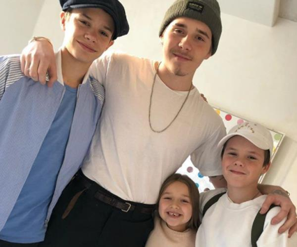 "Victoria Beckham's Christmas wish came true this year when her eldest son, Brooklyn returned home for the holidays.  ""I'm so happy!!! All my babies together!! @brooklynbeckham is home!!"" the proud mother wrote on Instagram alongside a shot of her four gorgeous children."