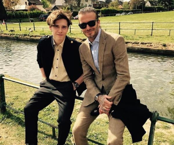Of course the Beckham's candid family photos look like magazine shoots. David and Brooklyn enjoy a suave day in the country-side.