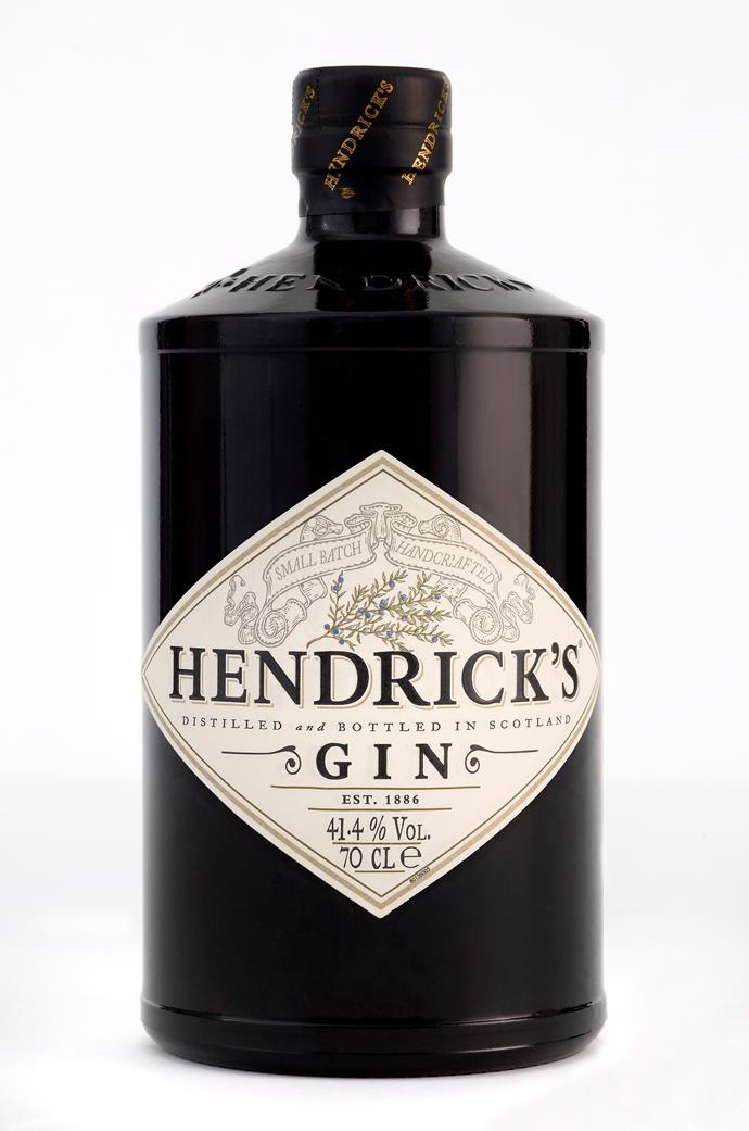 **Hendrick's Gin – Curious, yet Marvellous**  Hendrick's Gin is infused with the curious, yet marvellous, essences of rose and cucumber, delectably supported by no less than 11 botanicals from the four corners of the world.  *RRP $75. Suggested serve: Tonic water, ice and a thin slice of cucumber*