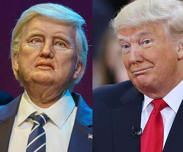 It's not technically a wax figure, but this Trump animatronic sitting in Disneyland's Hall of Presidents is a little off on the likeness front.