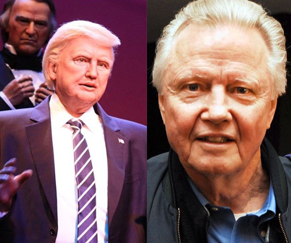 In fact, a lot of people are saying the robot looks a lot more like actor Jon Voight than the 45th president. A little ironic given Voight played president Franklin D. Roosevelt in *Pearl Harbour.*
