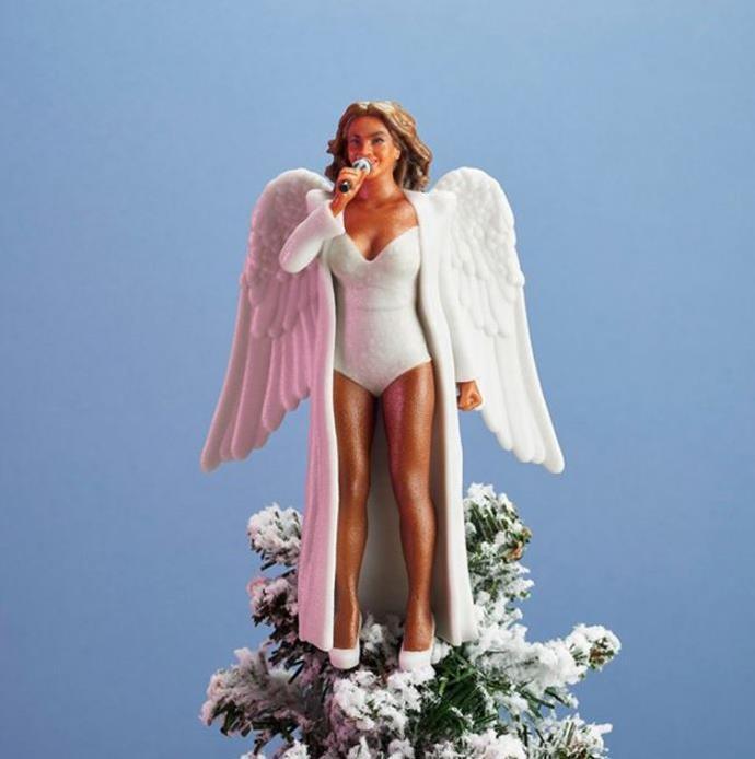 Queen Bey is the tree top angel we all deserve via @SassBaller