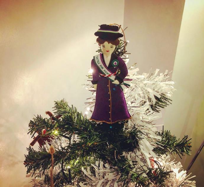 A proper feminist history teacher's tree topper from @abster_abi
