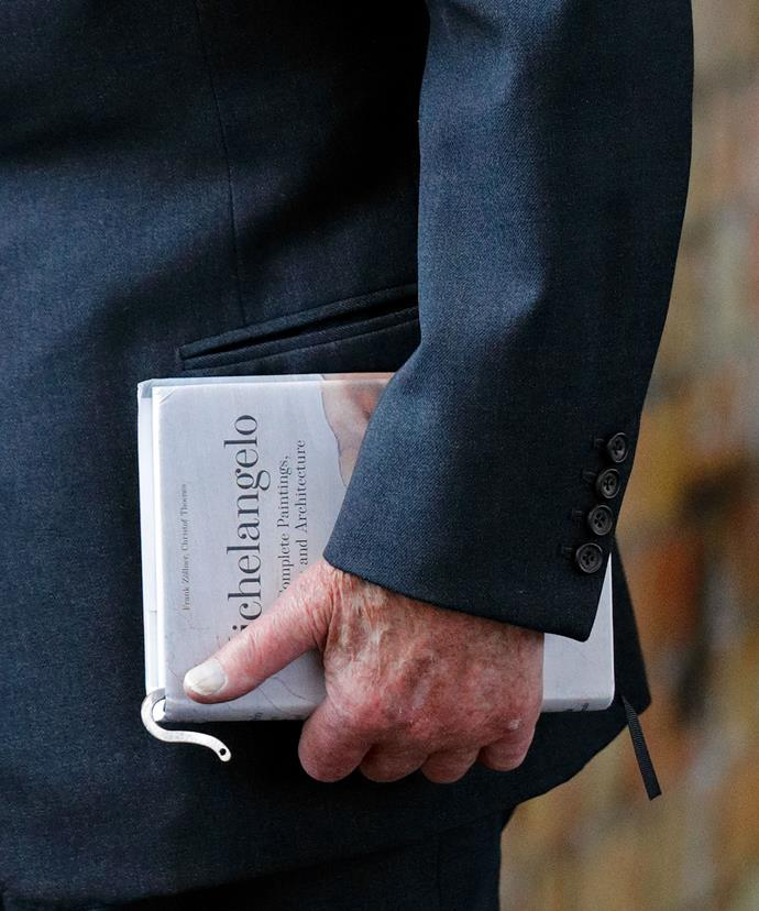 Philip, who recently retired from royal duties, brought a book along for the short trip.