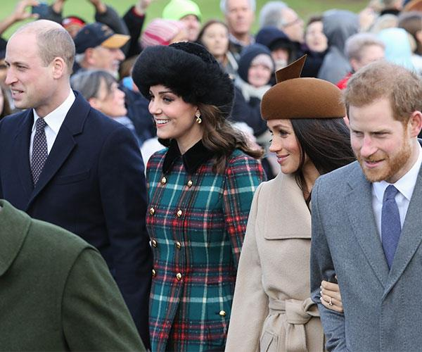 Brothers William and Harry with their loves Kate and Meghan.