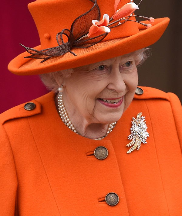 And Her Majesty seems rather pleased!
